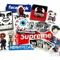 Finished Die Cut Silkscreen Facebook Stickers
