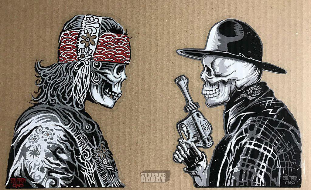 Gypsy cowboy clear zoltron vinyl stickers