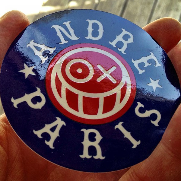 Andres paris streetart sticker
