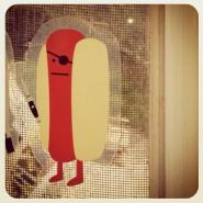 diecut-hotdog-sticker