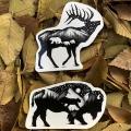 bison_elk_nature_stickers