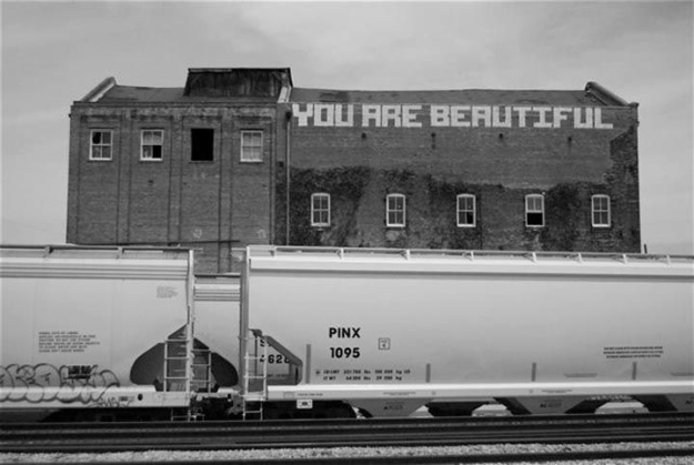 "The ""You Are Beautiful"" sticker movement started as Chicago-based artist  Matthew Hoffman's attempt to feel more at home when he first moved to the  city."