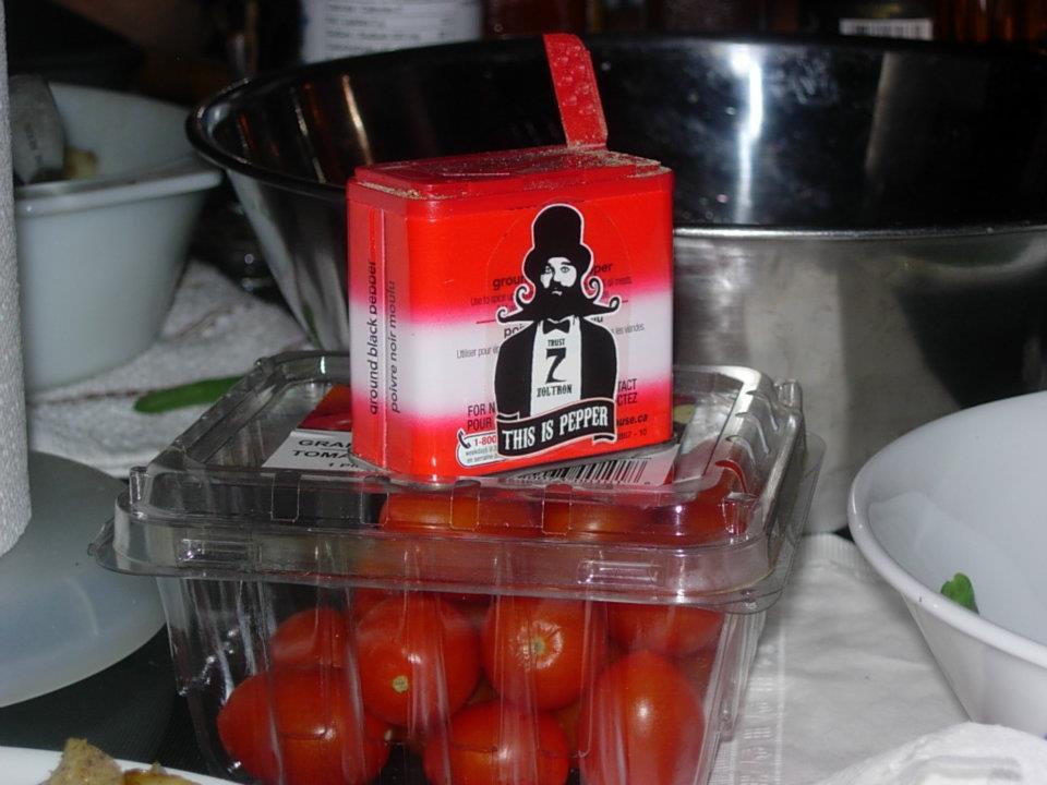 Salt pepper stickers
