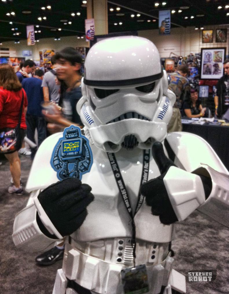 stormtrooper vs stickerobot