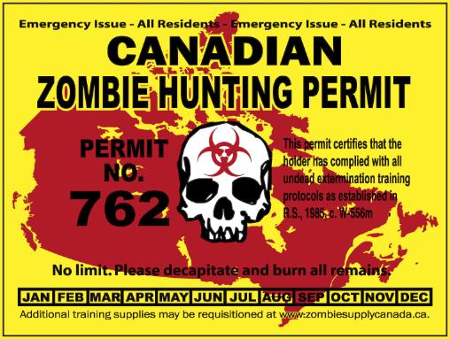 Zombie hunting season