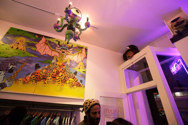 hey look, there's a skinner painting in the LA mishka store