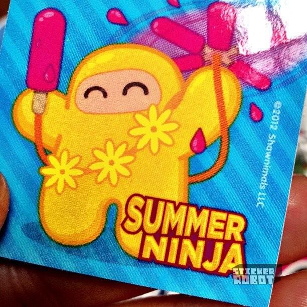 summer ninja sticker