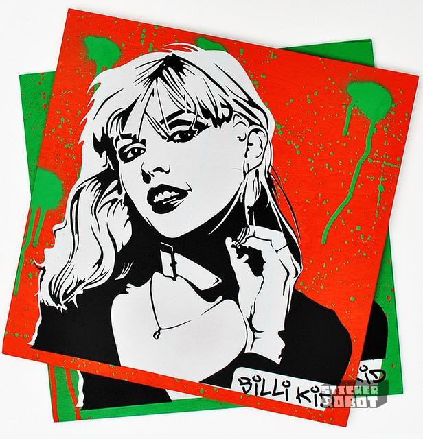 blondie silkscreen stickers