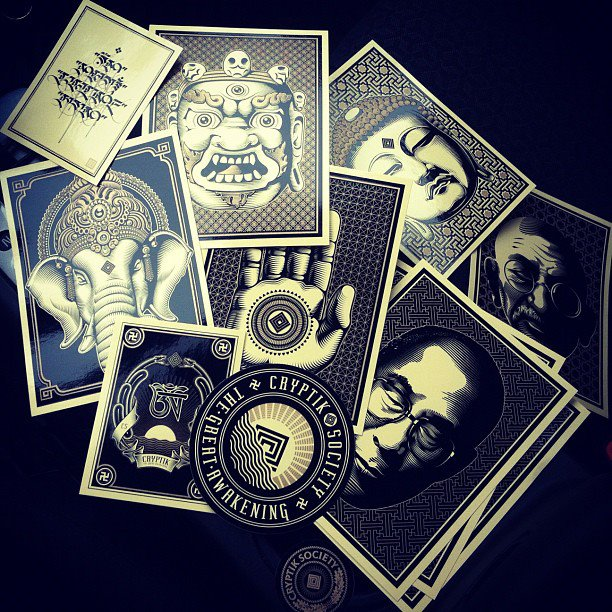 silkscreen stickers by cryptik