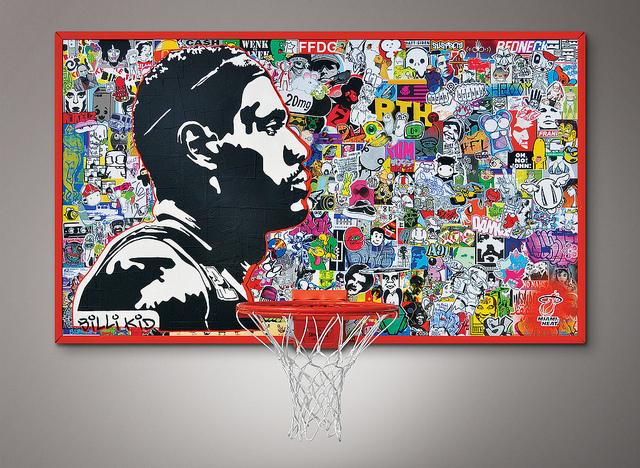 billi vs lebron - sticker collage