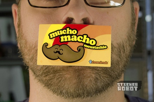 Moustachio Stickers, Shawnimals
