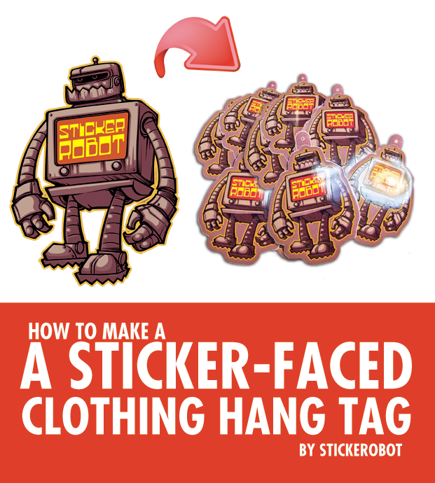 a sticker hang tag tutorial