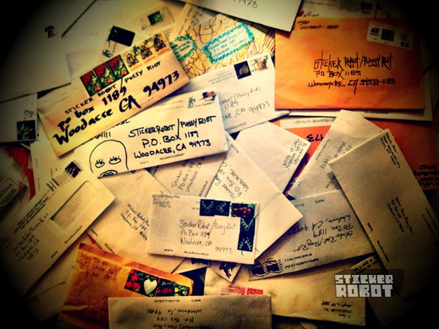 pussy riot envelopes