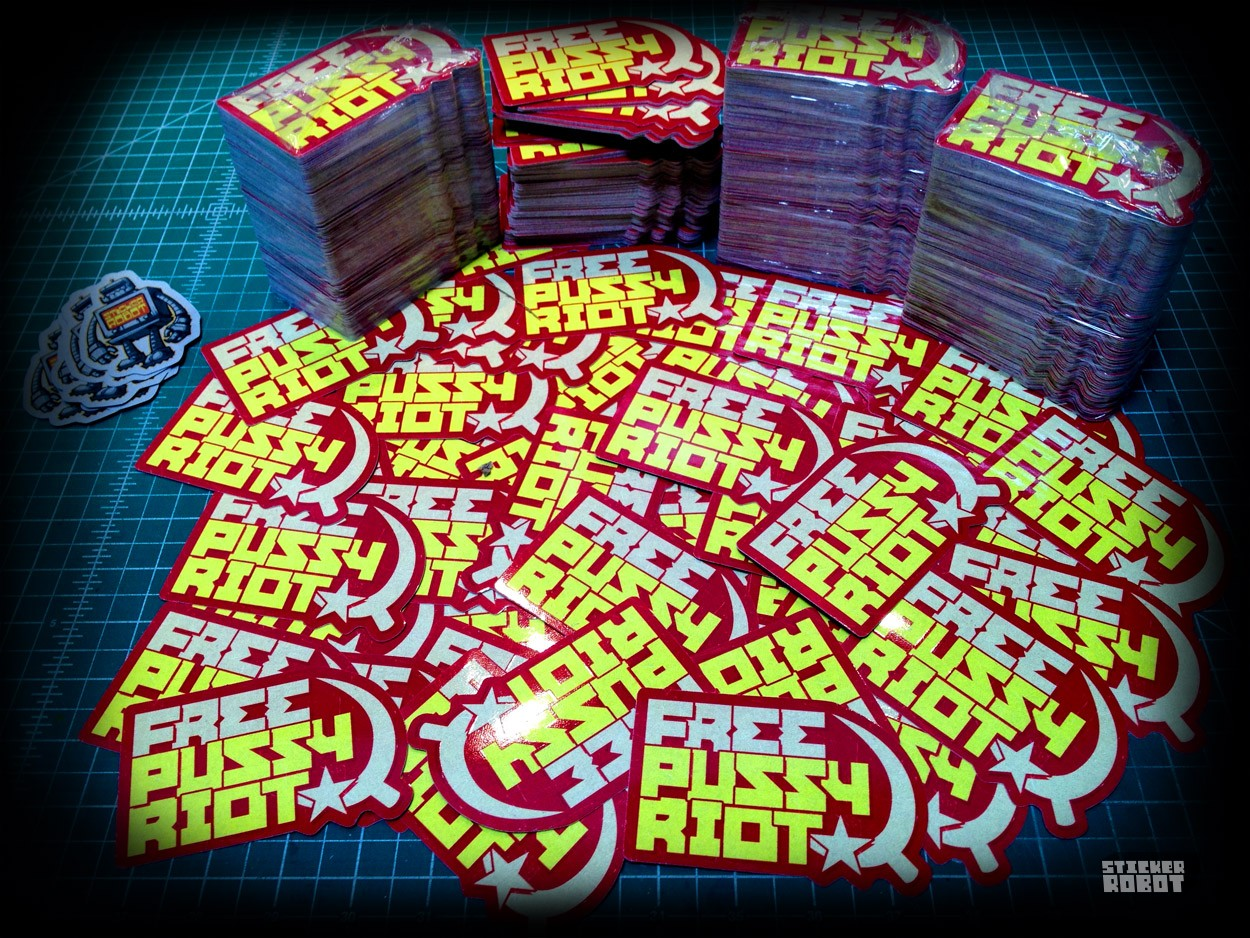 free pussy riot stickers by stickerobot