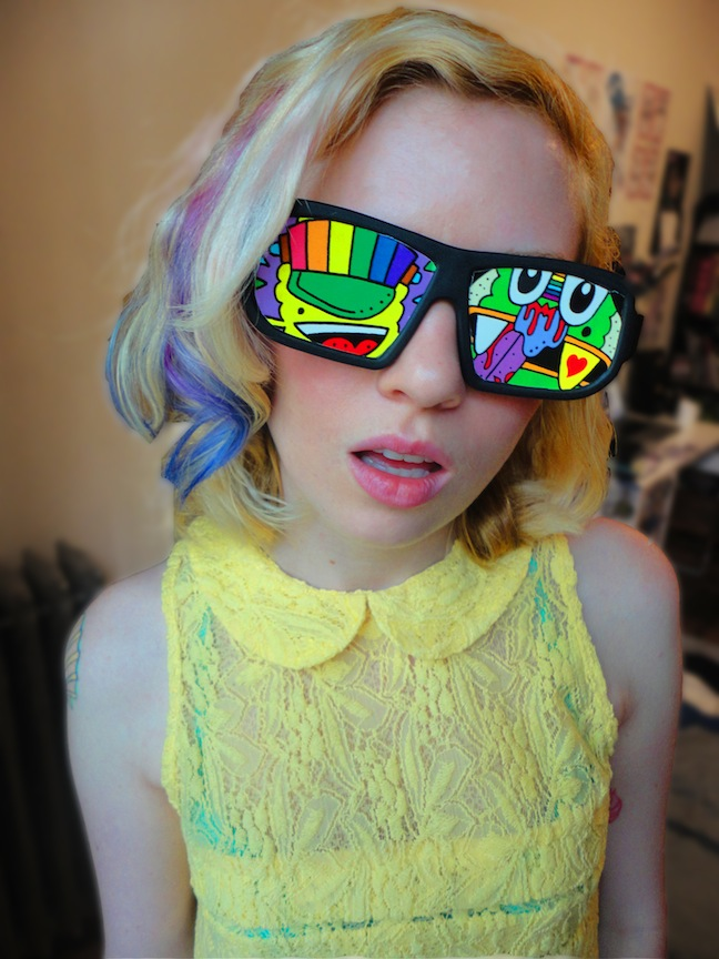 tyler super rad sticker sunglasses
