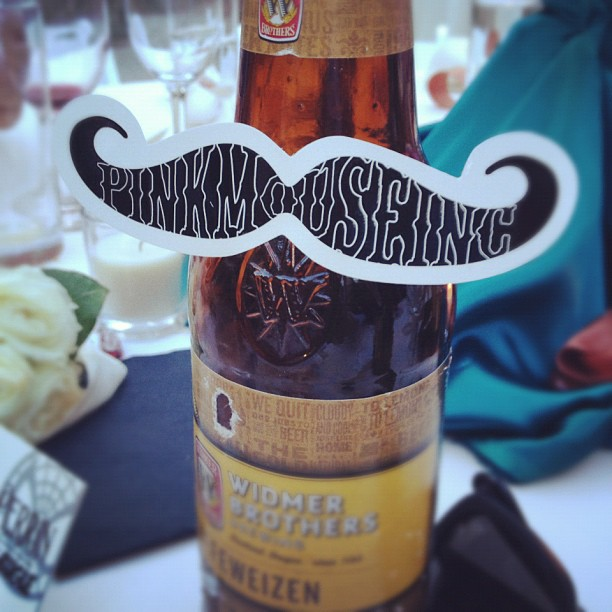 White vinyl mustache stickers