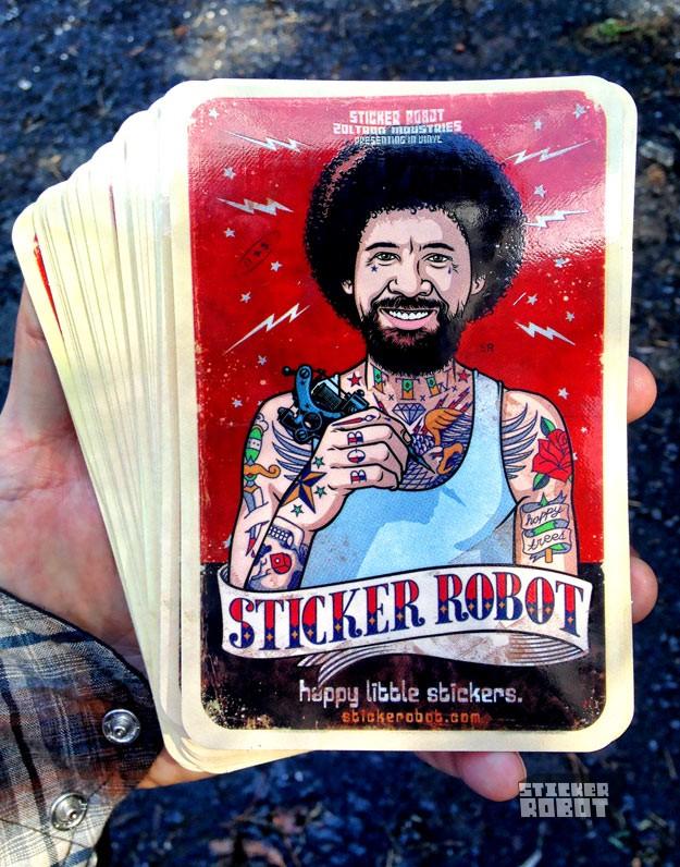 custom postcard stickers