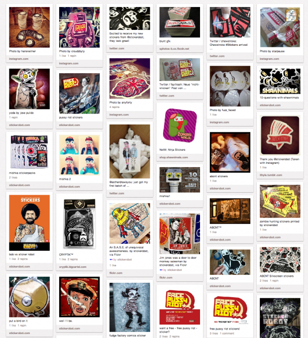 The Official Sticker Robot Pinterest Page Sticker Robot