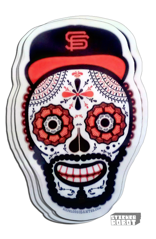Diecut Stickers San Francisco Giants Day Of The Dead