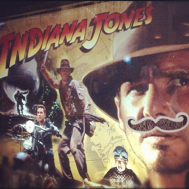 Indiana jones sticker mustache