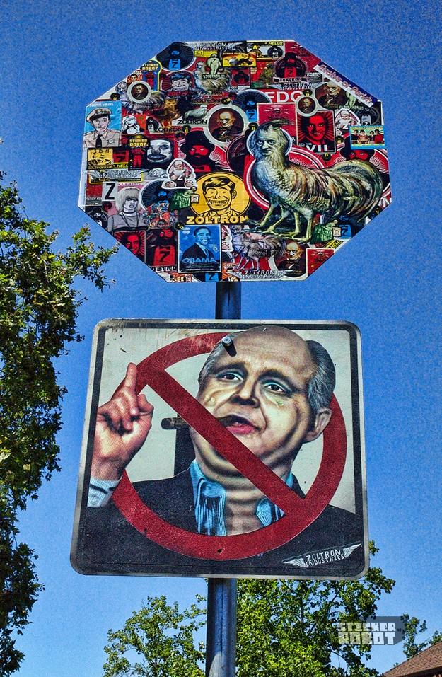 stop sign sticker art