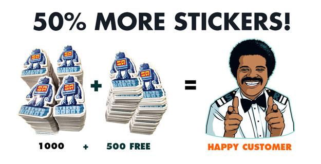 500 extra sticker promo