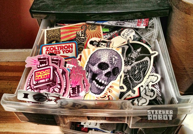 drawer full of awesome stickers