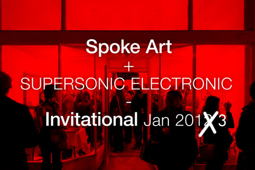 supersonic art show will have free stickers :))