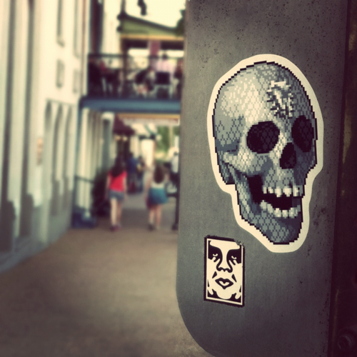 iconic stickers by supersonic electronic and obey giant