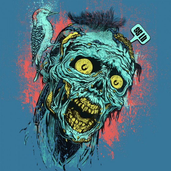zombie sticker by zombie yeti