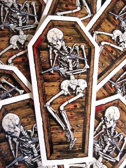 diecut coffin sticker by gig art