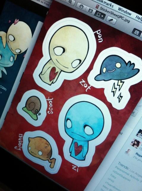 Custom printed sticker sheets