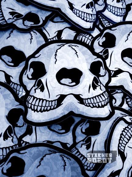 die cut skull stickers