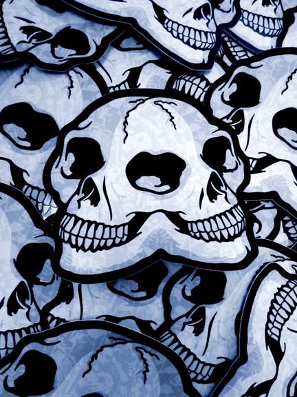 die cut skull sticker