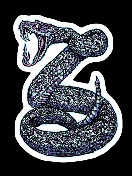 diecut snake stickers by gigart