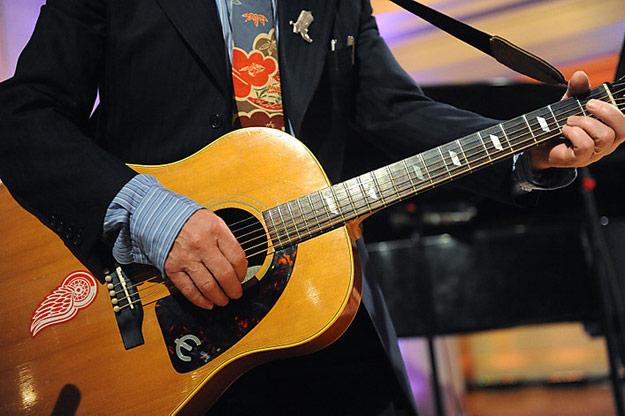 paul mccartney's guitar sticker