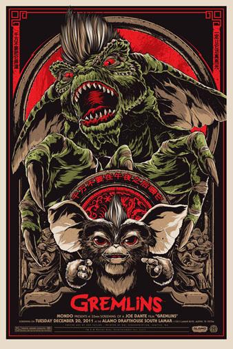 gremlins silkscreen poster