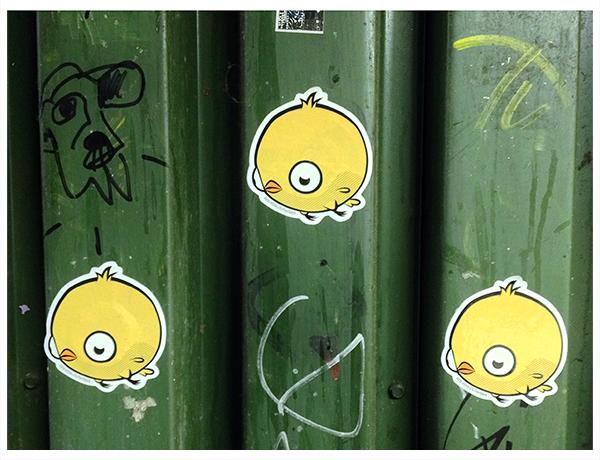 Herbert custom shape bird stickers