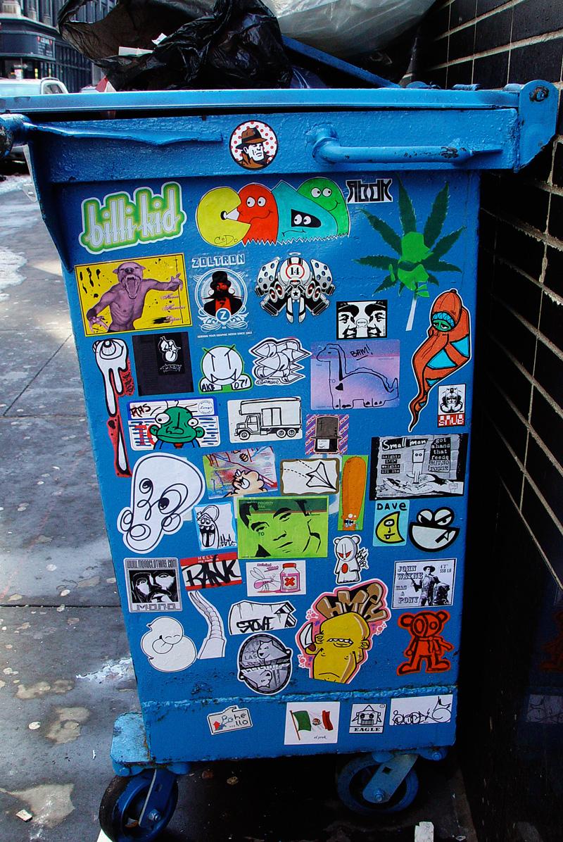 outdoor sticker combo in new york city
