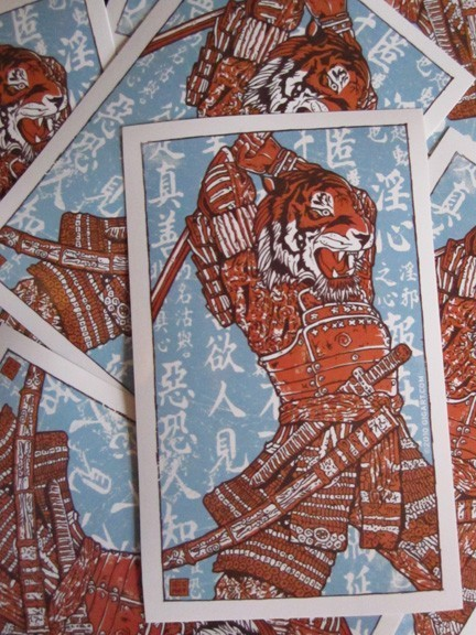samurai tiger stickers