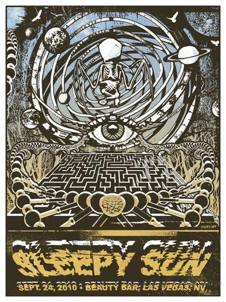 sleepy sun silk screen poster by gregg gordon