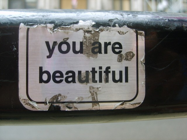 you are beautiful chrome stickers
