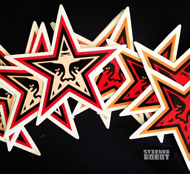 Custom Printed Star Shaped Die Cut Stickers For Obeygiant - What are custom die cut stickers