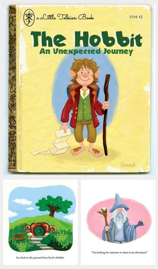 a photo of a children's hobbit book