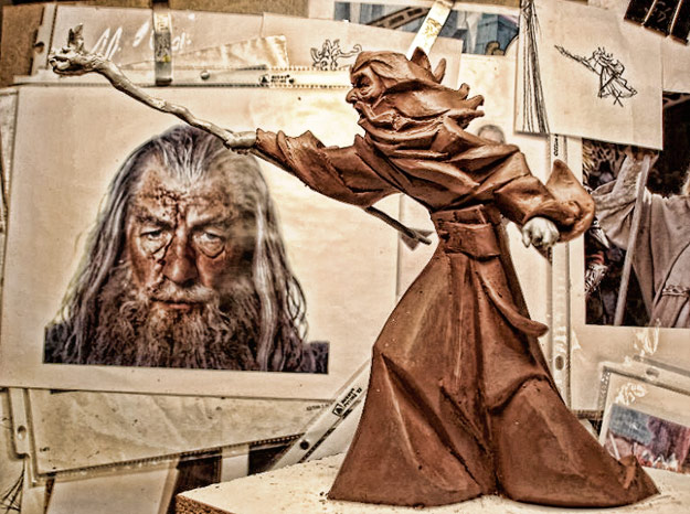 lord of the rings gandalf sculpture sticker robot profile Schumacher