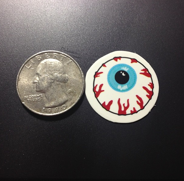 mini circle diecut stickers