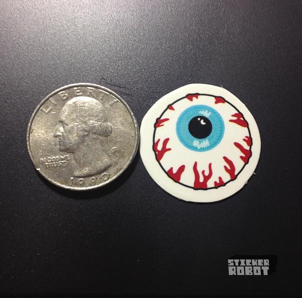 Mini round vinyl die cut stickers