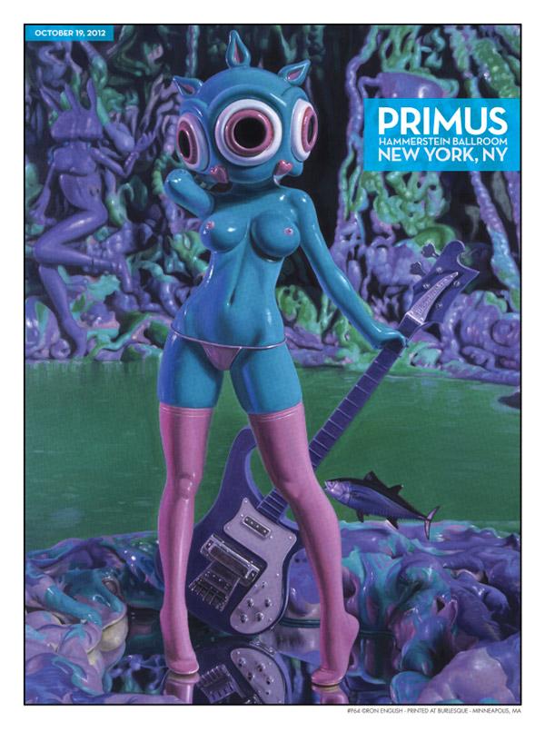 silkscreen primus rock poster by ron english