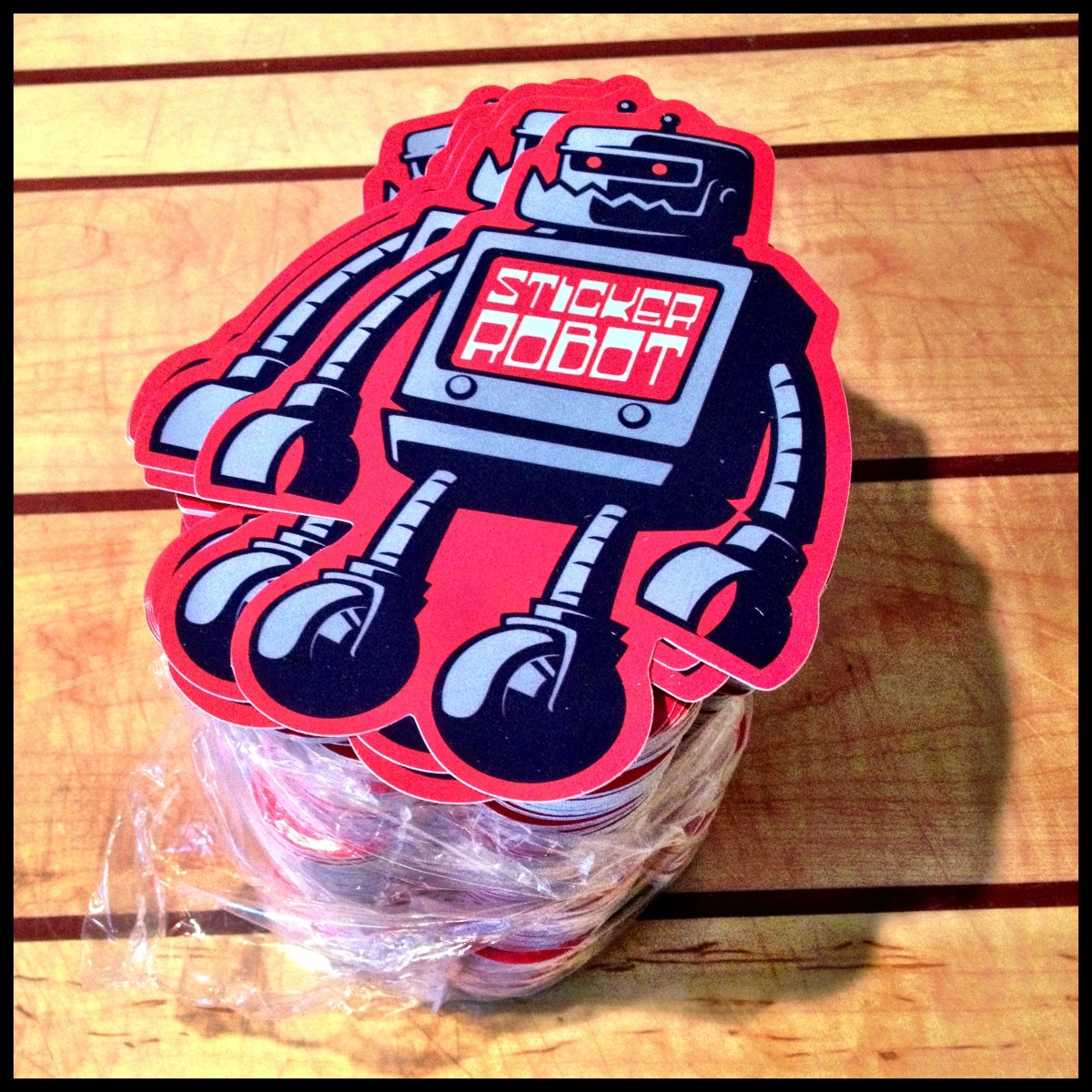 sticker robot custom die cut vinyl stickers