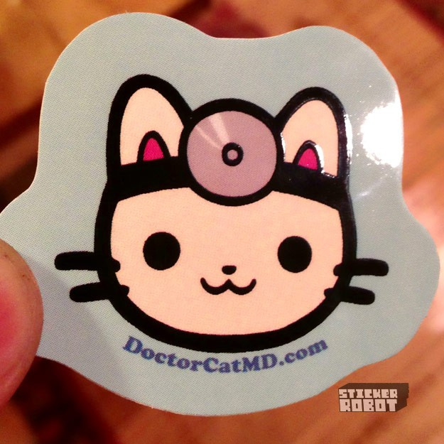 Custom vinyl die cut stickers